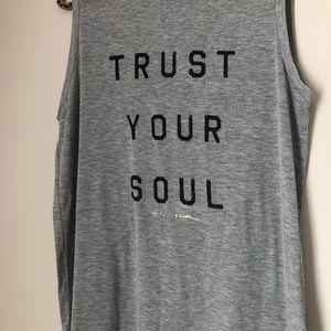 Spiritual Gangster Tops - Spiritual Gangster Graphic Tank Trust Your Soul